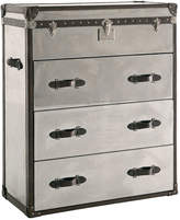 Andrew Martin Steel/Brown Chest Of Drawers