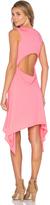 Bobi Lightweight Jersey Cut Out Asymmetrical Dress