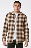 Obey Dobbs Plaid Flannel Long Sleeve Button Up Shirt