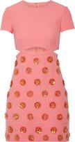 Emilio Pucci Embellished cotton mini dress
