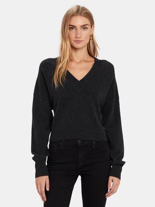 Naadam Long Sleeve Cashmere V-Neck Sweater
