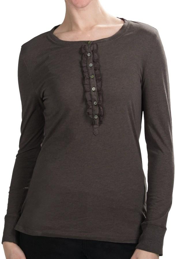 dylan Heather Ruffle Henley Shirt (For Women)