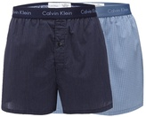 Calvin Klein Blue Pack Of Two Woven Boxers