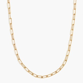 J.Crew Paper clip link chain choker necklace
