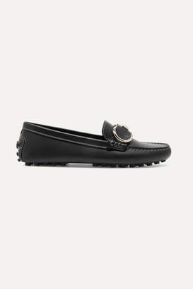 Salvatore Ferragamo Breno Leather Loafers - Black