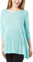 Mint Hatchi Crisscross Maternity Top