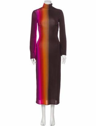 Ellery Striped Midi Length Dress w/ Tags Purple