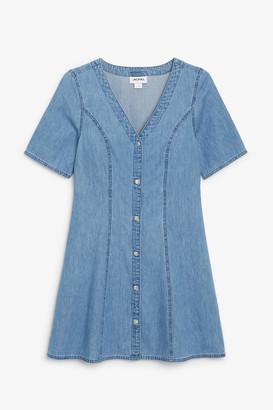 Monki Short sleeve denim dress