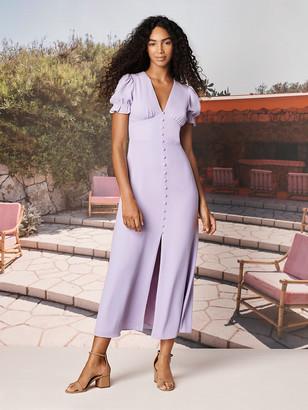 Diane von Furstenberg TVF Lavender Crepe de Chine Maxi Dress