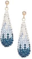 Candela 14K Yellow Gold Blue Ombre Crystal Dangle Earrings