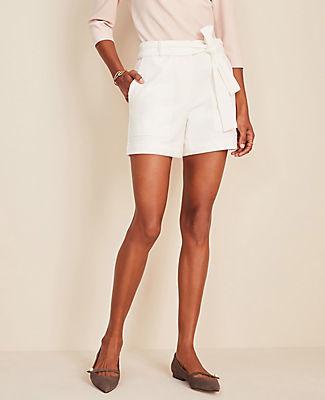 Ann Taylor Marina Tie Waist Shorts