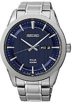 Seiko Men's Stainless Steel Blue Dial BraceletWatch