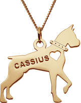 JCPenney FINE JEWELRY Personalized Boxer 14K Yellow Gold Over Sterling Silver Pendant Necklace