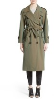 Burberry Women's Tropical Gabardine Oversized Trench Coat