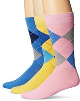 Tallia Men's Argyle Crew Socks (Pack of 3)