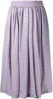 Etro metallic full midi skirt - women - Silk/Polyimide - 40