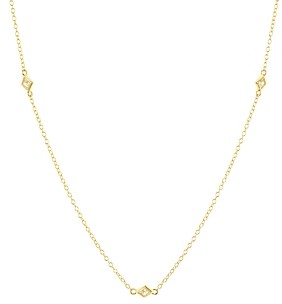 Aqua Geometric Stations Necklace in 18K Gold-Plated Sterling Silver, 16 - 100% Exclusive