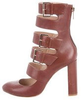 Ruthie Davis Leather Keira Caged Pumps