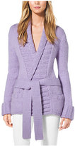 Michael Kors Shawl-Collar Cashmere And Wool Sweater