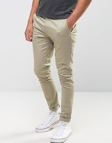 Asos Super Skinny Chinos In Brown