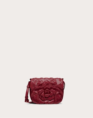 Valentino Small 03 Rose Edition Atelier Bag With Shoulder Strap Women Ivory Lambskin 100% OneSize