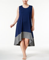 Style&Co. Style & Co Plus Size Colorblocked Midi Dress, Only at Macy's