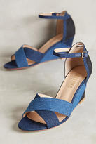 Billy Ella Denim Patchwork Wedges