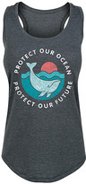 Instant Message Women's Women's Tank Tops HEATHER - Heather Charcoal 'Protect Our Ocean' Racerback Tank - Women