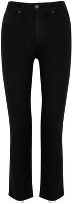 Paige Jacqueline Transcend Black Straight-leg Jeans