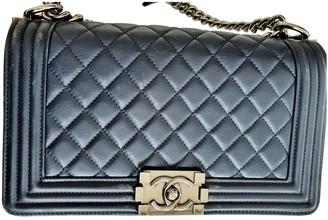 Chanel Boy Navy Leather Handbags