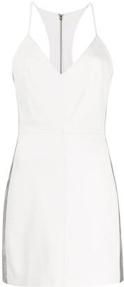 Manokhi Miya contrast panel fitted dress