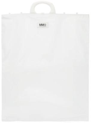 MM6 MAISON MARGIELA White Rectangle Shopping Tote