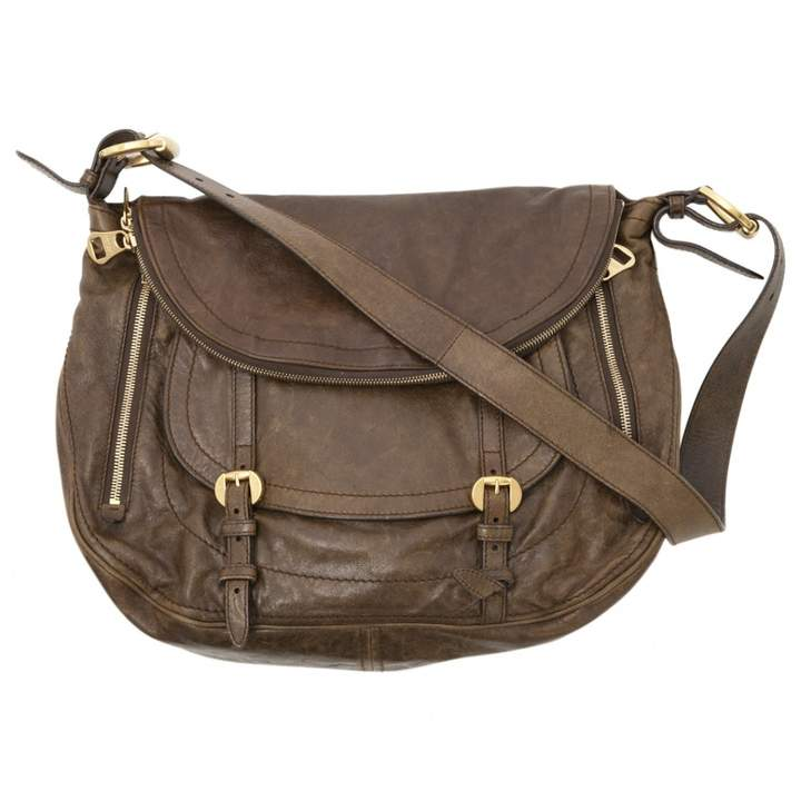 Alexander McQueen Khaki Leather Handbag
