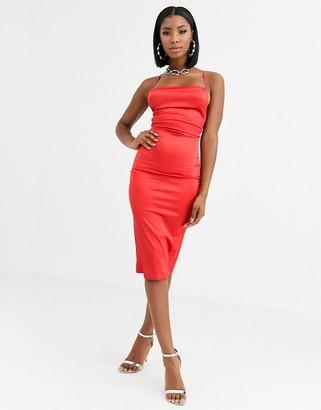 Public Desire maxi slip dress with cowl neck in luxe satin
