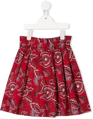 Bonpoint Pleated Print Skirt