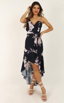 Showpo Open Communication dress in navy floral - 8 (S) Dresses