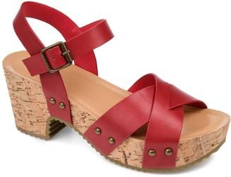 Journee Collection Valentina Women's Platform Sandals