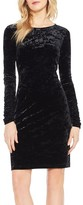 Vince Camuto Women's Ruched Sleeve Crushed Velvet Dress