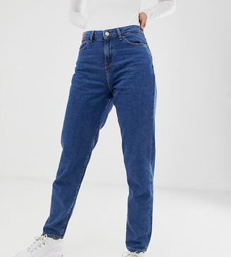 Noisy May Tall straight leg jeans in medium blue wash