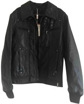 Versace Black Leather Jackets