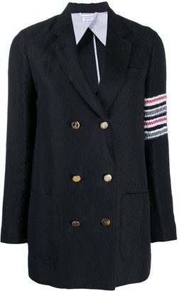 Thom Browne Double-Breasted 4-Bar Blazer