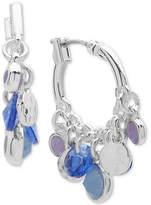 Nine West Blue Bead Shaky Hoop Earrings
