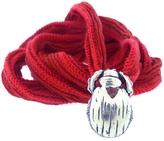 Catherine Michiels Le Petit Max Garnet Silver Charm & Silk Bracelet Wrap