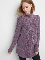 Gap Maternity cable knit turtleneck sweater tunic