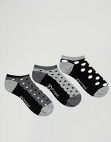 Original Penguin Pengiun 3 Pack Sneaker Socks