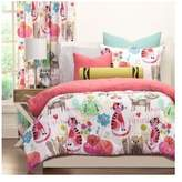 Crayola Reversible Childrens Pink Yellow Cat 3-piece Comforter Bedding Set Includes Custom Mouse Pad