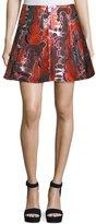 Opening Ceremony Dakota Topiary-Print Flared Skirt, Multi