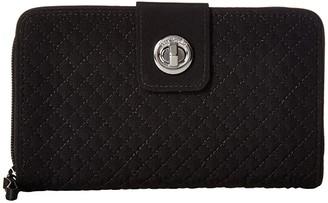 Vera Bradley Iconic RFID Turnlock Wallet (Classic Black) Wallet Handbags