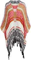 Raj Imports Women's Kimono Cardigans BLACK - Black & Red Geometric Erica Sidetail Kimono - Women
