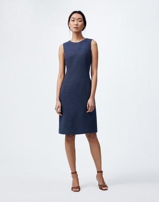 Lafayette 148 New York Italian Linen-Virgin Wool Suzanne Dress